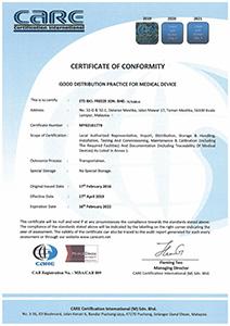 ETS Bio Freeze GDPMD Certificate
