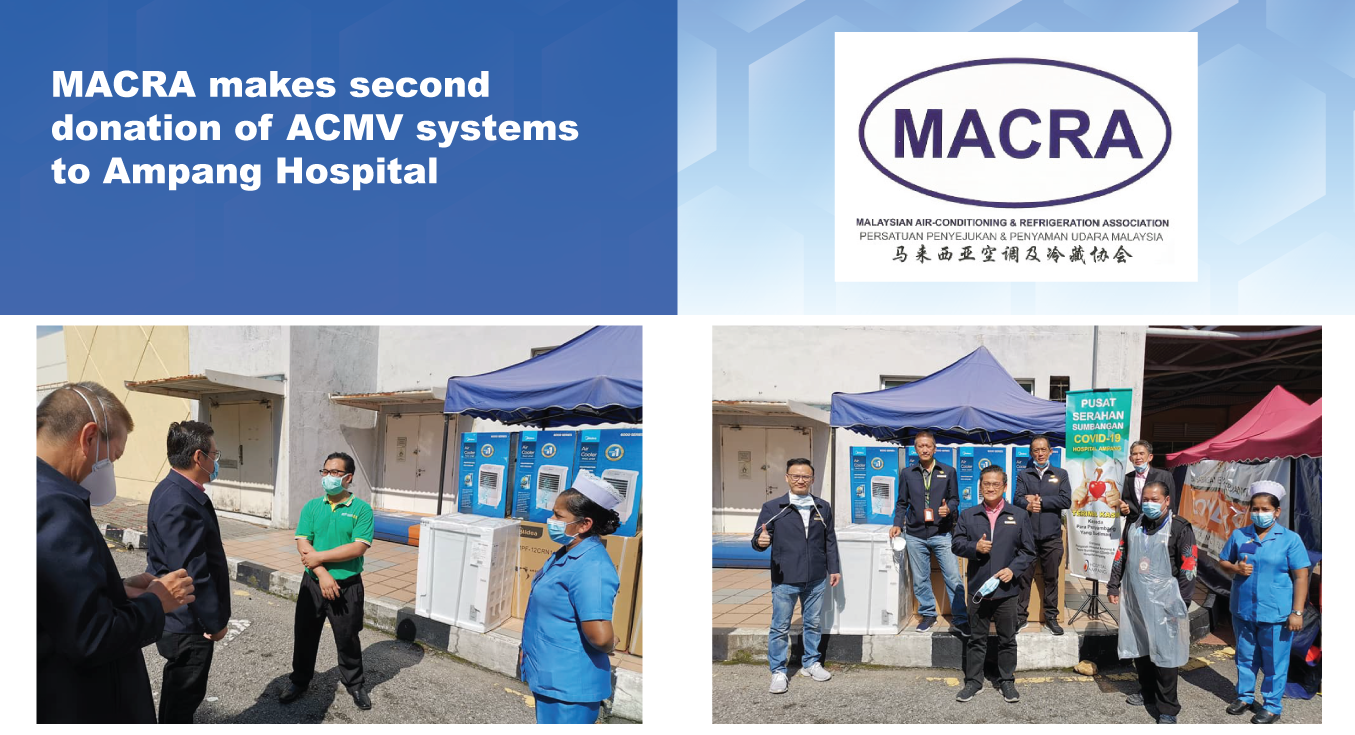 MACRA makes second donation of ACMV systems to Ampang Hospital