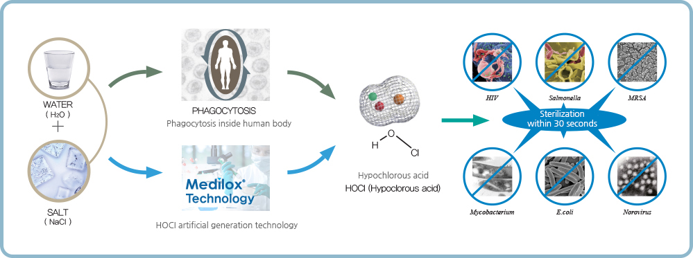 medilox HOCl how it works