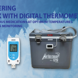 Cold Box with Digital Thermometer